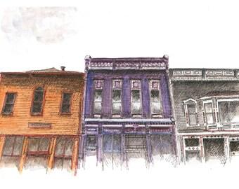 Greene Street Facades 1231-1237-1245 (PRINT)