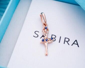 Little Ballerina Pendant-Ballet Gift-Ballerina Gift-Art Pendant-Dancer Pendant-Odette Pendant-Dancer Gift