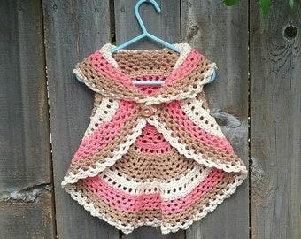 Toddler circle vest, Crochet vest, Boho vest, boho wear, toddler wear, toddler vest
