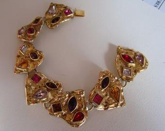 YSL Yves Saint Laurent Seven Hearts Bracelet