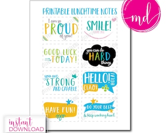 lunchbox notes printable, inspirational, affirmations, school lunch notes for kindergarteners, lunch notes for boys, lunch notes for girls,