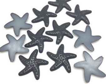 20 x Black Starfish Cabochons 19mm