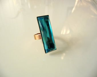Summer blue turquoise ring