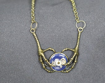 Necklace Steampunk greenhouses in Raven (unique)