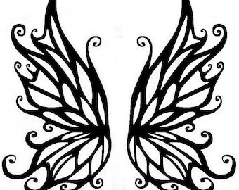 Intricate Butterfly Tribal Vinyl Decal