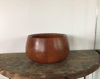 Danish Modern Dansk Medium Teak Bowl IHQ Jens Quistgaard