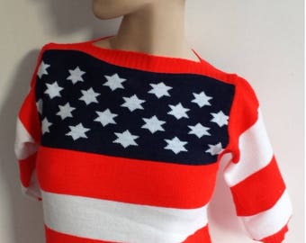 70's vintage 4the july knitted sweater size small, m, x-small