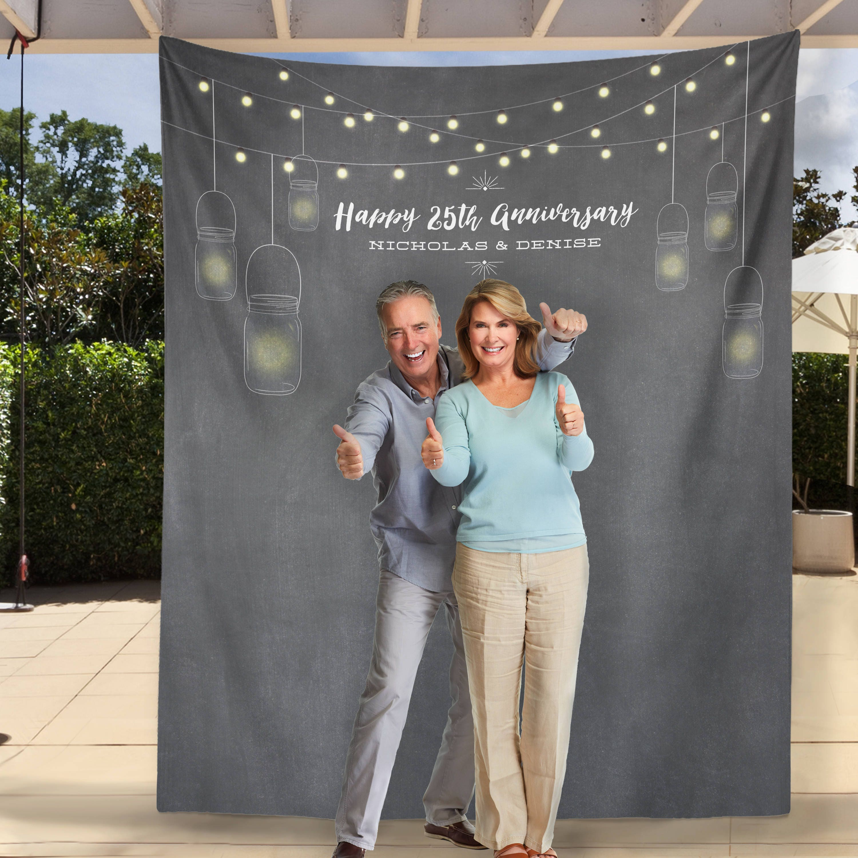 1st Wedding Anniversary Decoration Ideas At Home: 25th Anniversary Party Decor 25th Anniversary Photo Backdrop