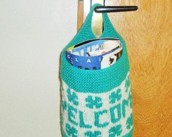Hand Knit Basket - Personalized Gift for Boyfriend, for Mom, Friend, Women, Men, Husband, Housewarming Gift, Personalized Gift Baby, Basket