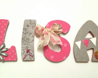 name with personalized wooden letters