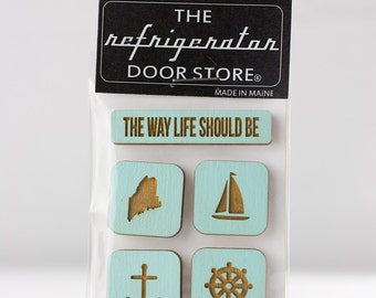 Gift for friends. The Way Life Should Be. Refrigerator Magnet. Fridge Magnets. Kitchen Magnets. Magnets.