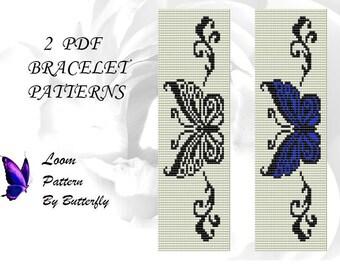 2 Loom Butterfly Patterns BT-056