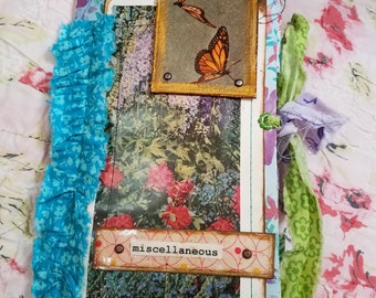 """Floral Themed TN Junk Journal, 8"""" x 4.75"""", """"Miscellaneous"""""""