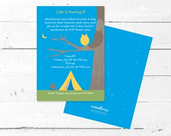 CAMP Birthday Party PRINTABLE INVITATION from The Celebration Shoppe