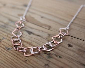 Copper and Silver Splatter Choker