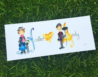Couple, Wedding, Anniversary, Best Friends, Union Name Painting - Custom, Made to Order