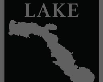 Long Lake (Alpena, MI) Steel Lake Map