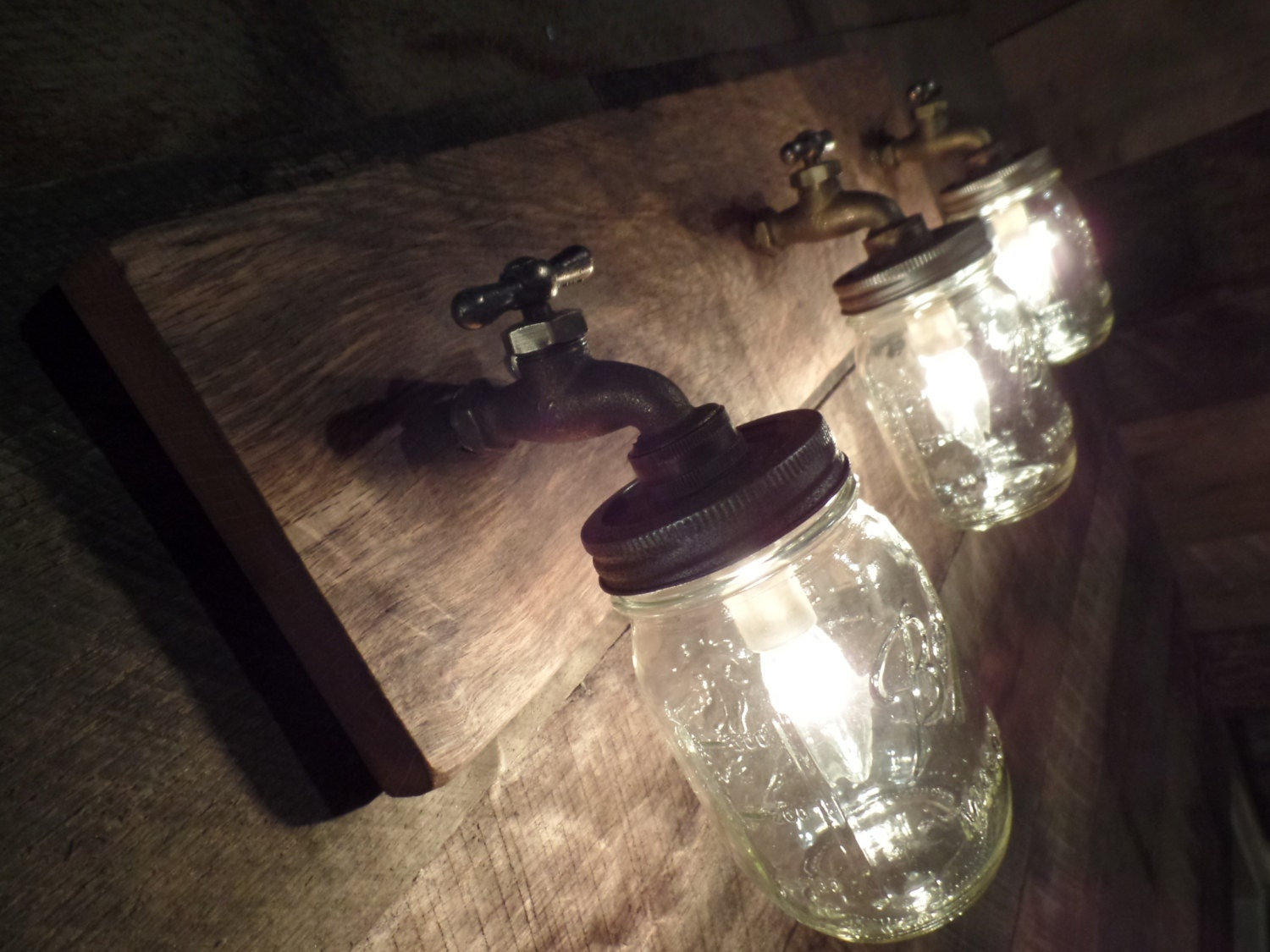 24 3 mason jar light fixture faucet style country zoom arubaitofo Gallery