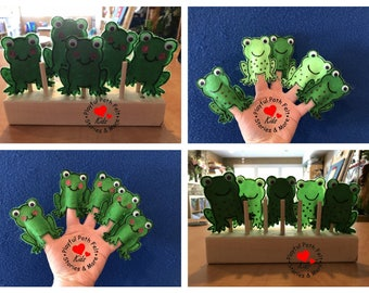 Five Green and Speckled Frogs, Finger Puppets, ECE, Daycare, Preschool, Story Time, Songs, Circle Time, Felt Story, Flannel Board, Teacher
