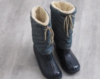 Vintage  Blue Duck Boots - size 4