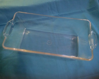 Vintage Clear Pyrex Loaf Pan with Handles - Number 214 Pyrex Loaf Pan - Vintage Pyrex - Pyrex Loaf Pan - Pyrex Bread Pan