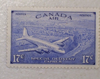 1946 Canada Air Special Delivery Stamp, 17 Cents, Mint, MNH, Scott # CE3