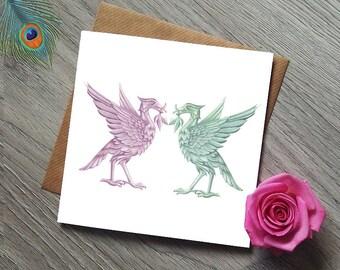 Liverpool Liverbird card - Liver Bird card - Liver building - Royal Liver Buildings - Liverpool card - Anniversary Card - Liver birds Card