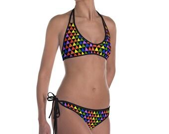 Rainbow Triangles Bikini