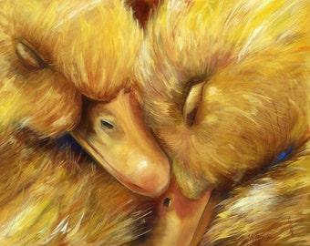 SLEEPYHEADS Baby Duck Print Matted
