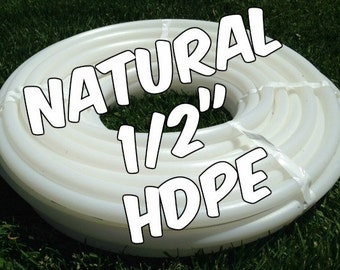 "1/2"" HDPE hula hoop tubing roll - Make your own hoops!  Comes with insert material 100 ft or 50 ft"