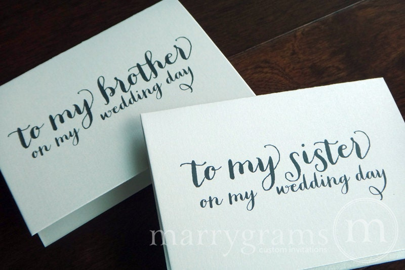 Wedding Card To Your Brother Or Sister Siblings Of The Bride