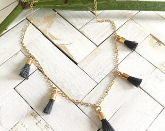 New! // Gold Tassel Choker