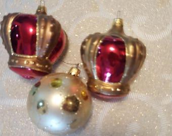 Regal crown Christmas ornaments