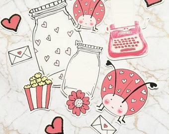 Love Letter Bugs Die Cut Ephemera
