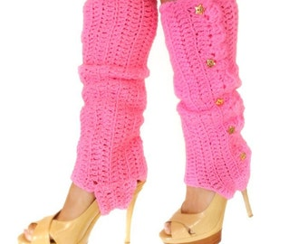 Leg Warmers with Stirrups - Hot Pink - Lots of Colors