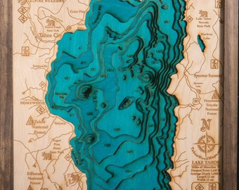 Lake Tahoe 3-D Map Highly detailed Locally Made in Tahoe
