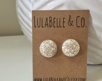 Nature Button Earring