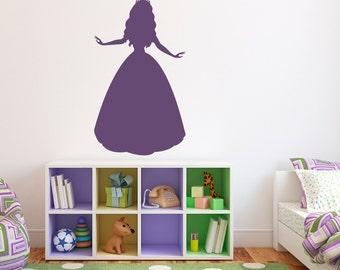 Princess Wall Decal - Girl Bedroom Wall Art - Princess Wall Sticker - Large