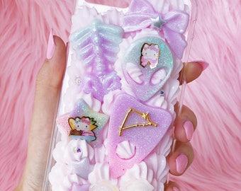 Creepy Cute iphone 7 PLUS Decoden case, kawaii iPhone 7  PLUS case, pastel iphone 8 plus, kawaii decoden case, pastel decoden