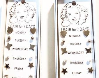 Vintage Earrings - 7 Pair for 7 Days