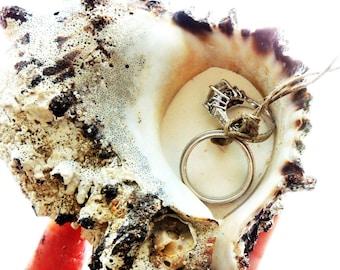 Starfish Ring Pillow Beach Wedding Personalized Ring Bearer
