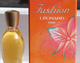 Fashion by Leonard 4 ml / 0.13 oz. eau de toilette mini bottle, 1993 version.