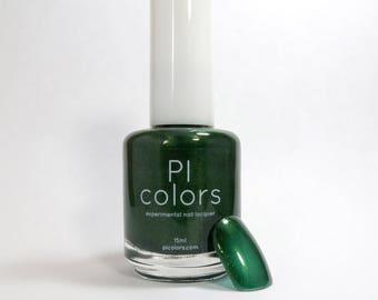 JuniperNight.001 Nail Polish Deep Forest Green Metallic