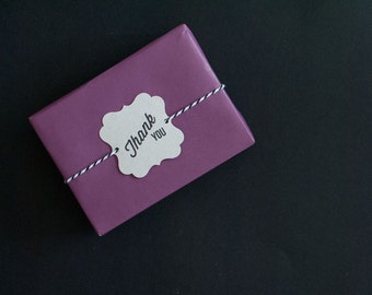 Purple on Kraft Gift Wrapping Paper