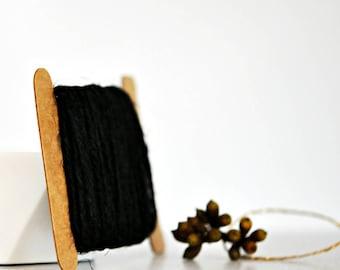 Chunky Black Twine {10.0m}   Chunky Twine   Black Twine   Rustic Black Twine   Christmas Twine   Holiday Twine   Black Jute Twine