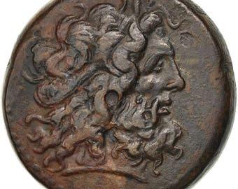 egypt ptolémée iv (221-205 bc) bronze alexandria au(50-53) bronze 34.06