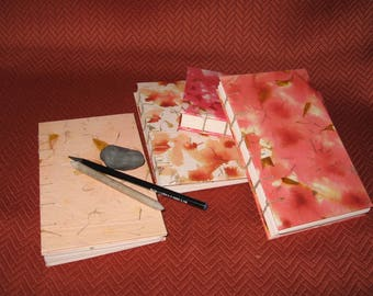 Light Red & Orange Writing or Sketch Journals.  Items #2021, #2022, #2023 and #2025.