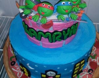 Handmade Fondant Super Mario Inspired cake Cupcake Topper Set