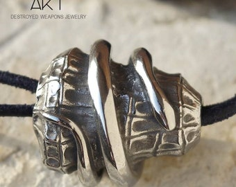 AKT jewels necklace  - destroyed weapons jewelry - handmade in France