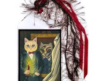 Dorain Gray Cat Bookmark The Picture of Dorian Gray Gothic Cat Art Oscar Wilde Literary Cat Art Mini Bookmarker Cat Lovers Gift